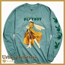 Urban Outfitters(アーバンアウトフィッターズ) Tシャツ・カットソー 【Urban Outfitters】* Playboy Pose Long Sleeve Tee ロンT*