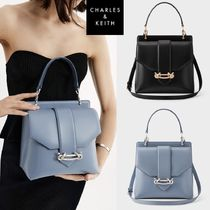 Charles & Keith★[21SS] Metallic Accent Top Handle Bag★2色