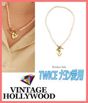 【VINTAGE HOLLYWOOD 】TWICE ナヨン愛用★Heart Pearl Necklace