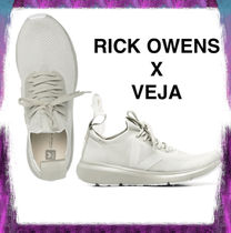 【RICK OWENS X VEJA】OYSTER WHITE CANVAS SNEAKERS