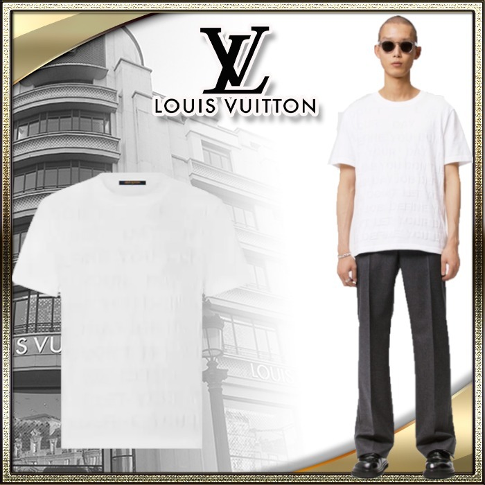 21AW LOUIS VUITTON 直営 メンズ Tシャツ LVレターズ シルク (Louis Vuitton/Tシャツ・カットソー) 1A8WW9  1A8WW2