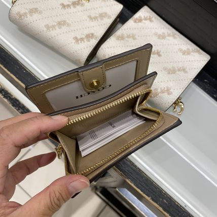 Coach 折りたたみ財布 21年5月 COACH★Snap Wallet With Horse And Carriage Dot Print(3)
