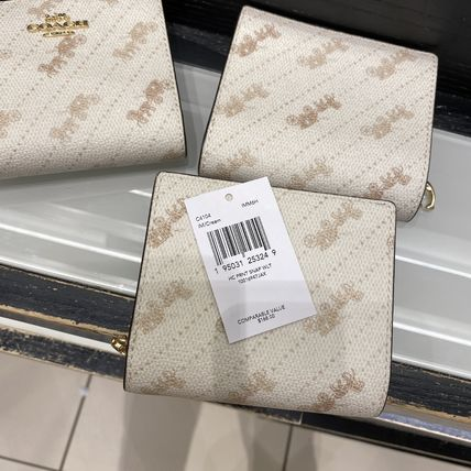 Coach 折りたたみ財布 21年5月 COACH★Snap Wallet With Horse And Carriage Dot Print(4)