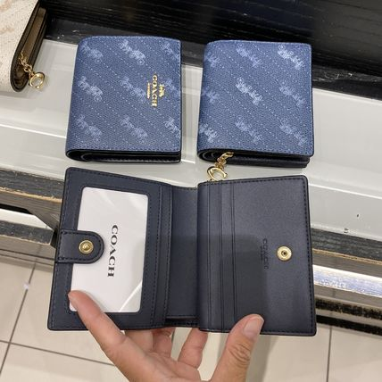 Coach 折りたたみ財布 21年5月 COACH★Snap Wallet With Horse And Carriage Dot Print(6)