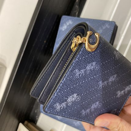 Coach 折りたたみ財布 21年5月 COACH★Snap Wallet With Horse And Carriage Dot Print(7)