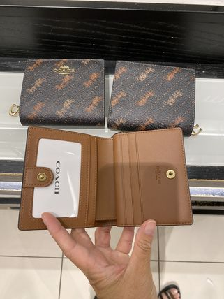 Coach 折りたたみ財布 21年5月 COACH★Snap Wallet With Horse And Carriage Dot Print(9)