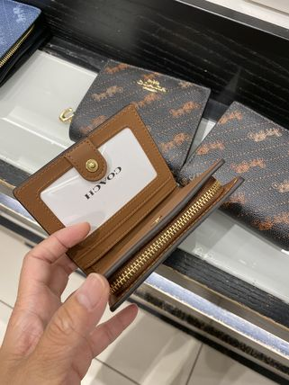 Coach 折りたたみ財布 21年5月 COACH★Snap Wallet With Horse And Carriage Dot Print(10)