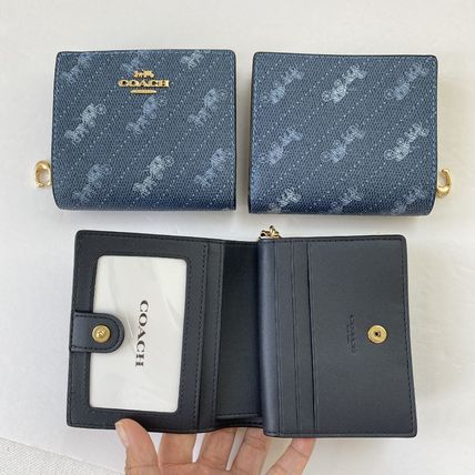 Coach 折りたたみ財布 21年5月 COACH★Snap Wallet With Horse And Carriage Dot Print(14)