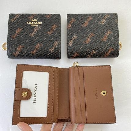 Coach 折りたたみ財布 21年5月 COACH★Snap Wallet With Horse And Carriage Dot Print(15)