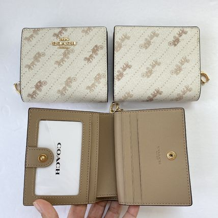 Coach 折りたたみ財布 21年5月 COACH★Snap Wallet With Horse And Carriage Dot Print(16)