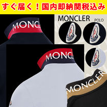 MONCLER(モンクレール) ポロシャツ 関税送料込国内発送★MONCLER 襟にロゴ!人気ポロシャツ