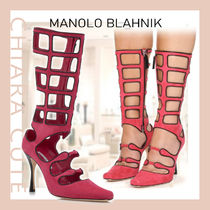 【21SS NEW】Manolo Blahnik_women/ANICETO カットアウトブーツ