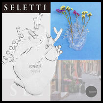 ■SELETTI■Love In ABloomガラスの花瓶 高さ16.7cmx幅14.2cm