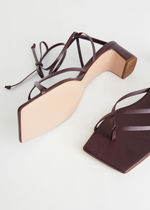 """""""& Other Stories""""☆Thong Strap Heeled Leather Sandals(brown)"""