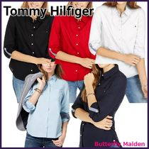 :: Tommy Hilfiger :: サラリと演出♪ Roll-Tab Button-Up Shirt