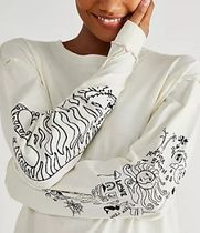 FREE PEOPLE -Care FP Up To Us Doodle Tee -