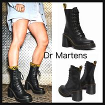 【Dr Martens】CHESNEY LEATHER FLARED HEEL LACE UP ブーツ 黒