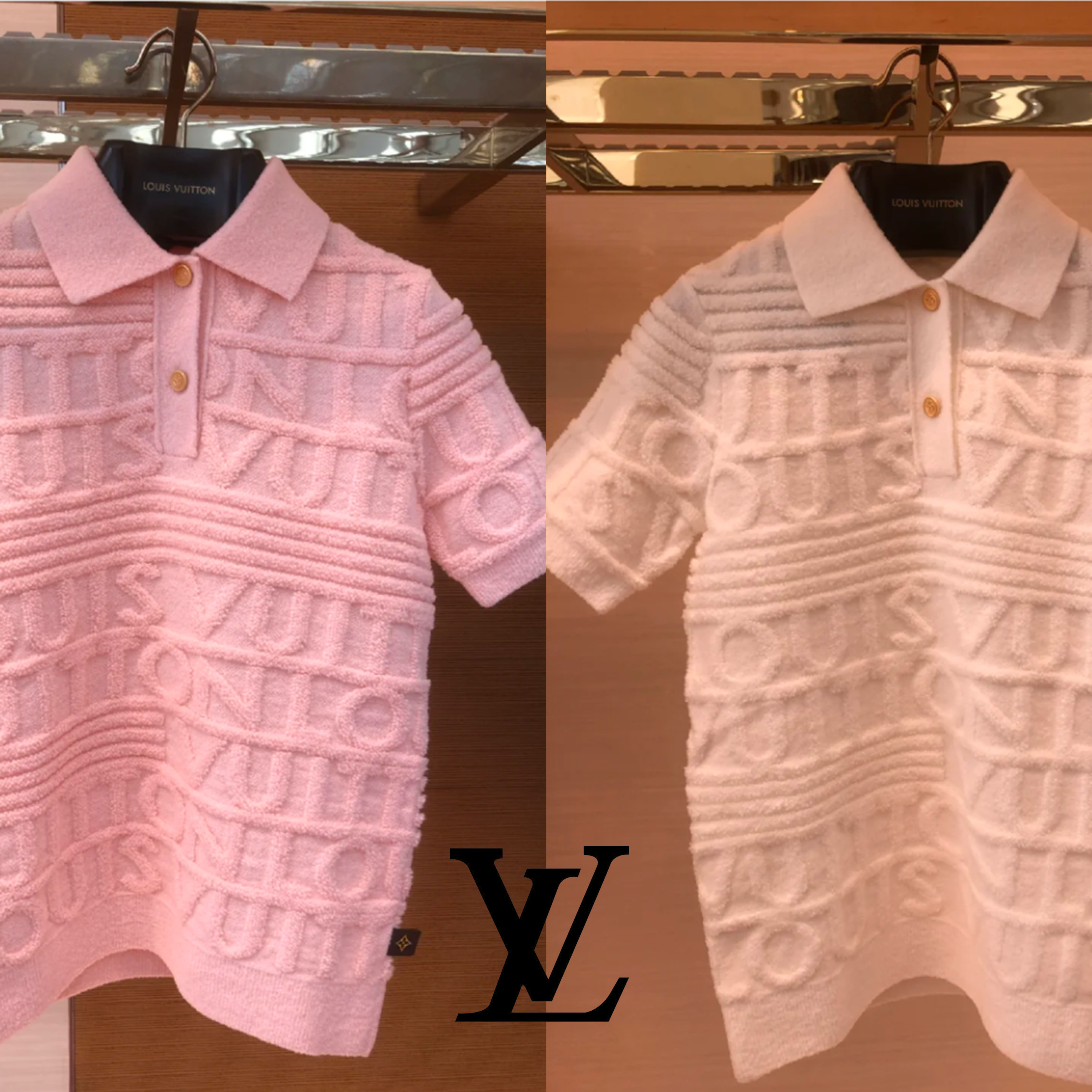 ◆NEW◆  白いスカートに合う♪ トップス ポロシャツ 3Dロゴ (Louis Vuitton/ポロシャツ) 1A93AH