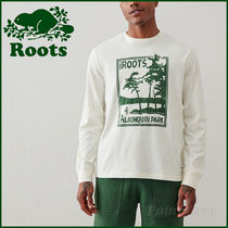 Roots Men's☆ アルゴンキン公園プリント・長袖カットソー
