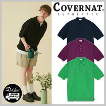 COVERNAT CABLE KNIT POLO T-SHIRTS YJ1382 追跡付