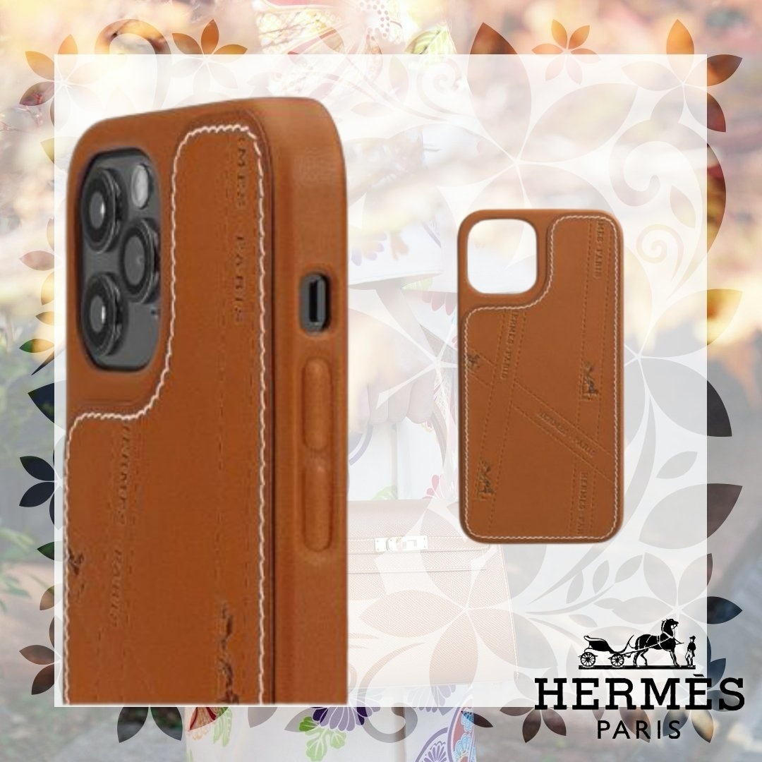 Hermes エルメス☆ iPhone12・12Proケース ボルデュック (HERMES/iPhone・スマホケース) H0007441A34