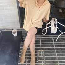 21HS ☆[TheOpen Product] / TERRY COLLARED T-SHIRT, BEIGE