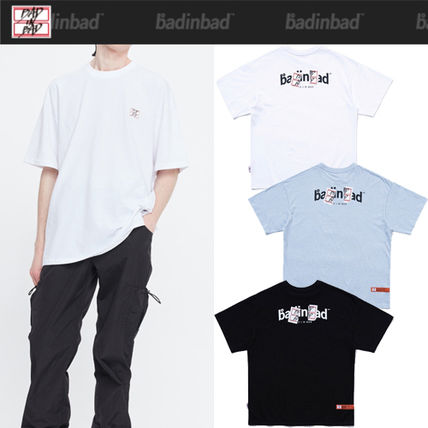 ★2021SS新作★BAD IN BAD★NAME TAG LOGO TEE_3色
