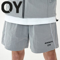 ★OY★DIAGONAL LINE LOGO HALF PANTS-GREY★正規品/直送料込