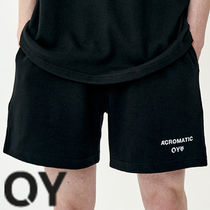 ★OY★BASIC SLOGAN HALF PANTS-BLACK★正規品/韓国直送料込