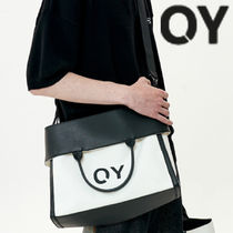 ★OY★2 WAY CANVAS LEATHER CROSS BAG-IVORY★正規品/直送料込