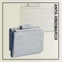 Anya Hindmarch☆クロコプリント ミニ 三つ折り財布☆One&Only