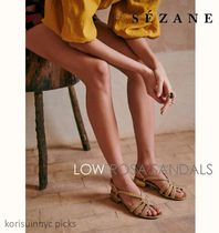 *Sezane*LOW ROSA SANDALS in Smooth Gold サンダル