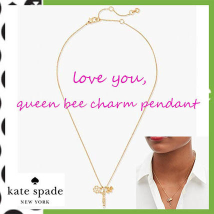 Kate Spade★I love you Queen Bee チャームペンダント♪