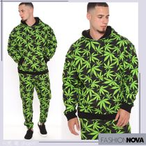 [ FASHIONNOVA ] Allover Weed Print Pullover Hoodie