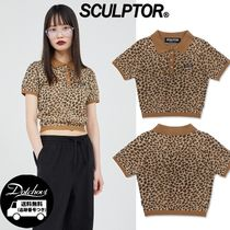 SCULPTOR Polo Knit Top YJ1401 追跡付