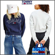Tommy Jeans Cropped College  ロゴ  スウェット/トレーナー