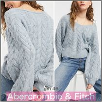 Abercrombie & Fitch【国内発送】ボートネック ケーブルニット