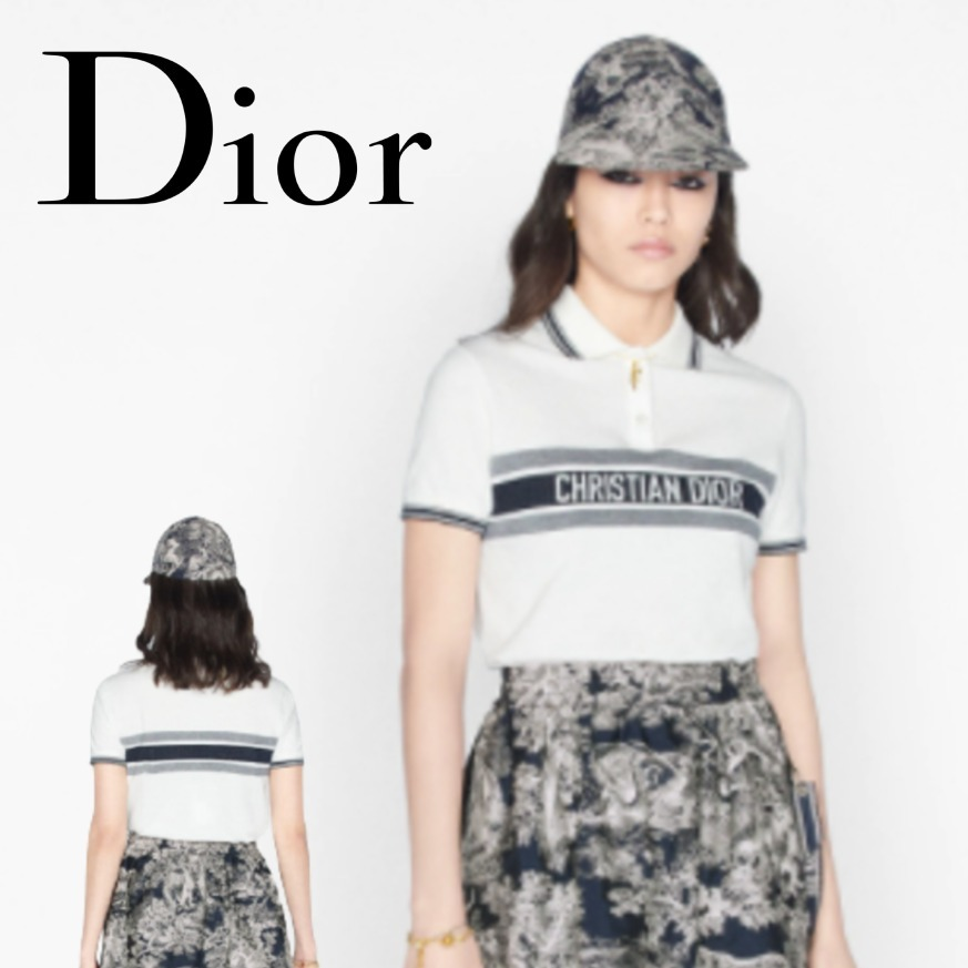 ◆NEW◆ DIOR スカート パンツに合う ポロシャツ トップス (Dior/ポロシャツ) 143T10A4047_X0200