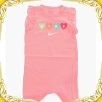☆kidsSALE☆Logo Romper Suit with Ruffled Sleeve