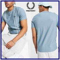 ☆Fred Perry☆refinedピケストライプ半袖Tシャツ 関税・送料込