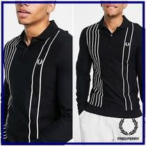 ☆Fred Perry☆refined ピケ ストライプ 長袖ポロシャツ