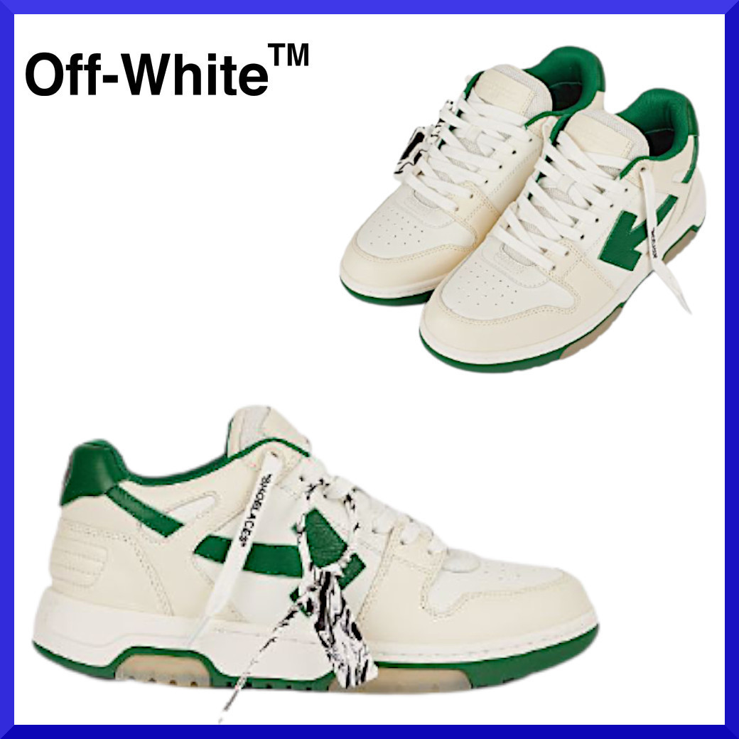 【Off-White】OUT OF OFFICE sneaker in white and green (Off-White/スニーカー) OMIA189R21LEA0010155