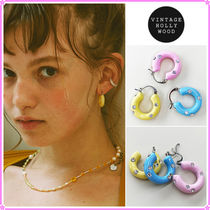 【VINTAGE HOLLYWOOD】Color Chubby Hoop Earring〜ピアス★21SS