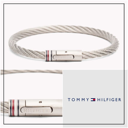 UK発★Tommy Hilfiger 'TWISTED CABLE' メタルブレスレット