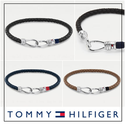 UK発★Tommy Hilfiger 'LEATHER DOUBLE HOOK' ブレスレット