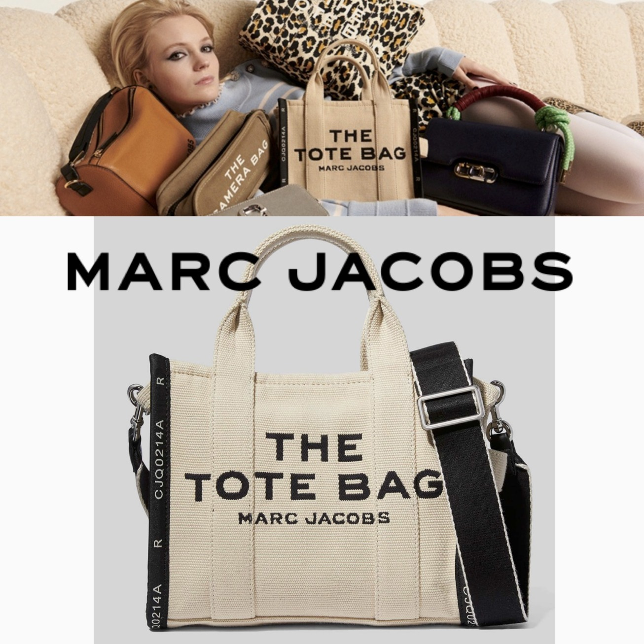 【MARC JACOBS】THE JACQUARD TOTE BAG ビッグサイズトート (MARC JACOBS/トートバッグ) 68909029