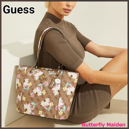 :: Guess :: 花柄 small tote Noelle Small Elite Tote