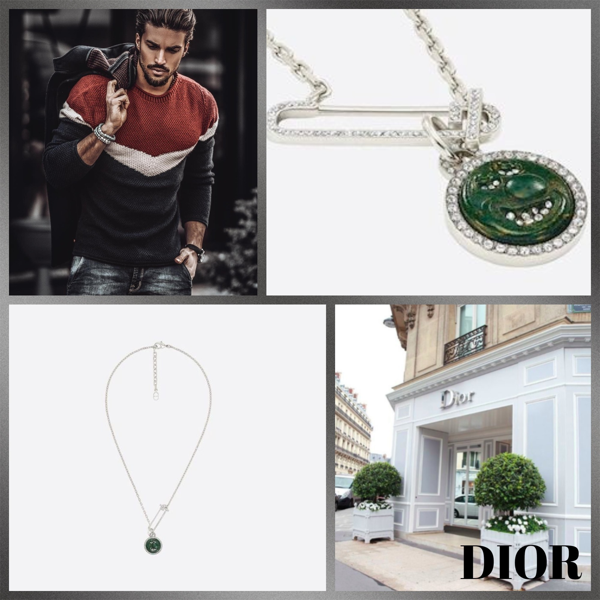 #DIOR直営店買付#DIOR AND KENNYSCHARFペンダントネックレス (Dior/ネックレス・チョーカー) 68918003