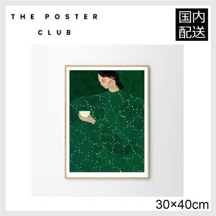☆THE POSTER CLUB☆ COFFEE ALONE AT PLACE DE CLICHY 30×40cm