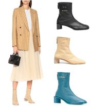 Acne Bertine Branded leather boots ロゴレザーブーツ 2色